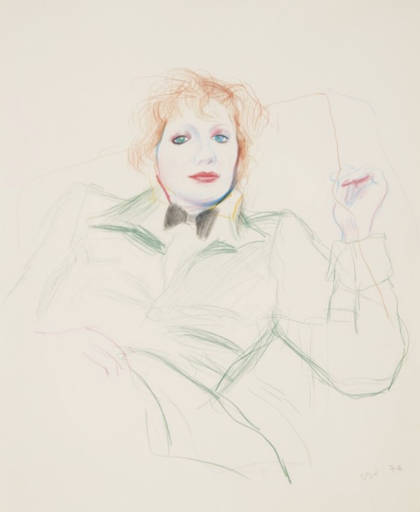 DAVID HOCKNEY, CELIA WITH BOW TIE