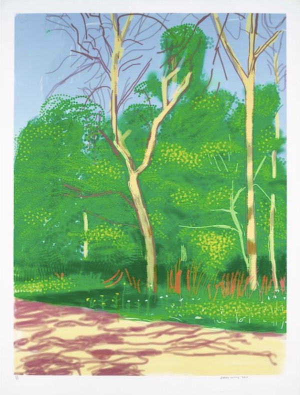 DAVID HOCKNEY, THE ARRIVAL OF SPRING IN WOODGATE