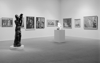 """Installation view of """"Two Centuries of Black American"""